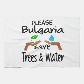 Árbol y agua de la reserva del PLZ Bulgaria Toalla De Cocina