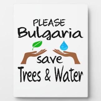 Árbol y agua de la reserva del PLZ Bulgaria Placa De Madera