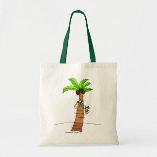 Árbol y bebida tropicales del tote bolsa lienzo
