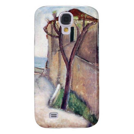 Árbol y casa de Amedeo Modigliani