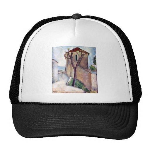 Árbol y casa de Amedeo Modigliani Gorras