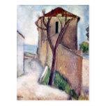 Árbol y casa de Amedeo Modigliani Postales