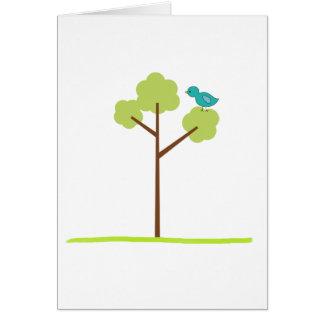 árbol y chirrido tarjeta de felicitación