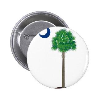 Árbol y creciente verdes del palmetto de Carolina Pins