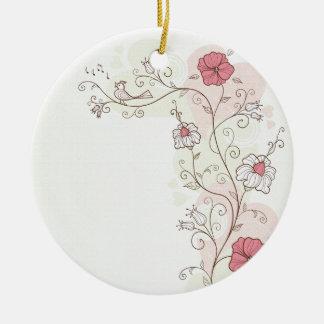 Árbol y flores caprichosos ornamentos de reyes