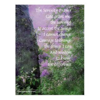 Árbol y lilas del rezo de la serenidad tarjeta postal