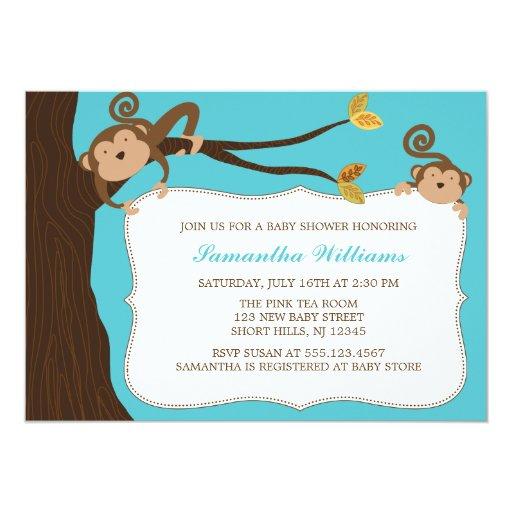 Árbol y monos invitación