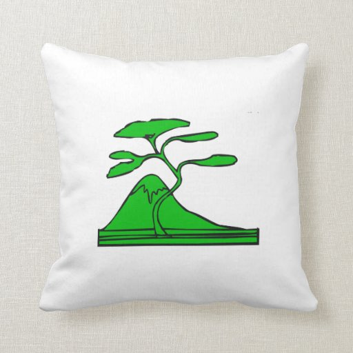 árbol y montaña green.png cojín