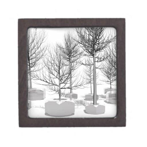 árbol y nueces caja de recuerdo de calidad