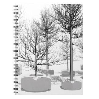 árbol y nueces libreta