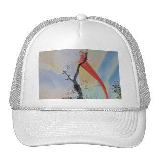 Árbol y pájaro solarized combinados únicos de los gorras