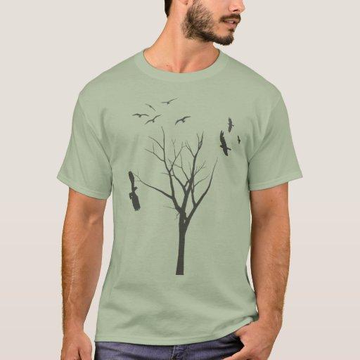 Árbol y pájaros - camiseta para hombre