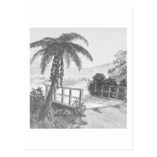 Árbol y puente de Ponga Postal