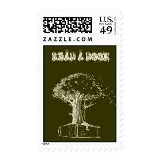 Árbol y un libro sellos