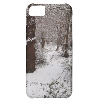 Arbolado antiguo nevado funda para iPhone 5C