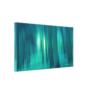 Arbolado contemporáneo del azul de la bella arte d impresion de lienzo