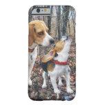 Arbolado de grito de la mamá y del perrito del funda para iPhone 6 barely there