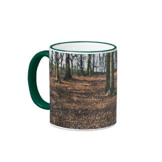 Arbolado de la haya tazas de café