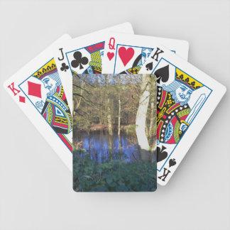 Arbolado del invierno barajas de cartas