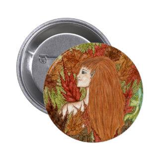 Arbolado del otoño - botón pin