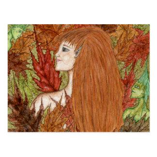 Arbolado del otoño - postal