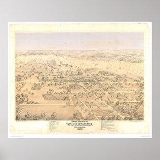 Arbolado, mapa panorámico del CA (1874A) Poster