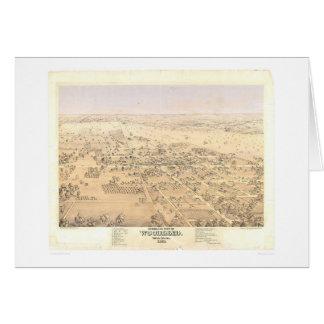 Arbolado, mapa panorámico del CA (1874A) Tarjeta De Felicitación