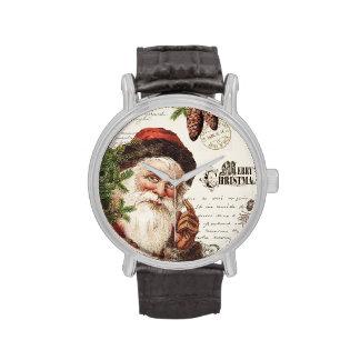 arbolado Santa del vintage Relojes