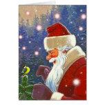 Arbolado Santa y tarjeta del día de fiesta del nav