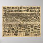 Arboleda 1897 del océano y parque de Asbury, mapa  Poster