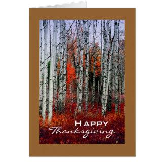 Arboleda de Aspen del otoño, acción de gracias Tarjeta De Felicitación