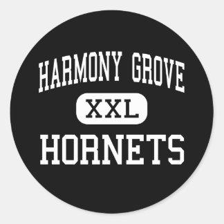 Arboleda de la armonía - avispones - alta - Camden Etiquetas Redondas