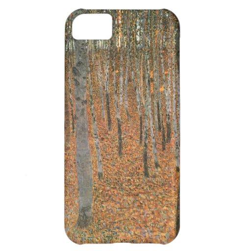 Arboleda de la haya de Gustavo Klimt Funda Para iPhone 5C