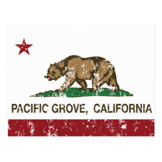 Arboleda del Pacífico de la bandera de la Postal