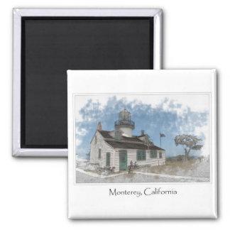 Arboleda pacífica Monterey California de Pinos del Imán Cuadrado