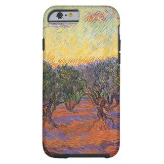 Arboleda verde oliva, cielo anaranjado de Vincent Funda De iPhone 6 Tough