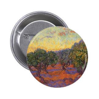 Arboleda verde oliva, cielo anaranjado de Vincent Pin