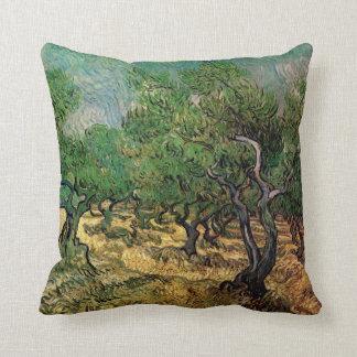 Arboleda verde oliva de Vincent van Gogh Almohada