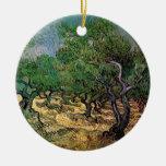 Arboleda verde oliva de Vincent van Gogh Ornaments Para Arbol De Navidad