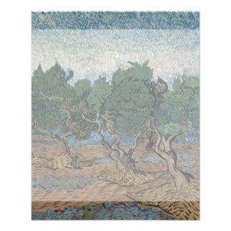 Arboleda verde oliva de Vincent van Gogh Tarjetones