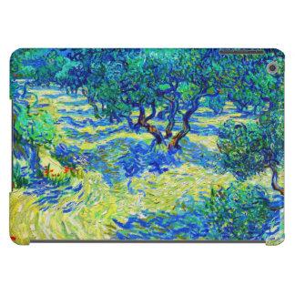 Arboleda verde oliva de Vincent van Gogh Funda Para iPad Air
