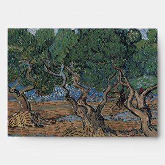 Arboleda verde oliva de Vincent van Gogh Sobres