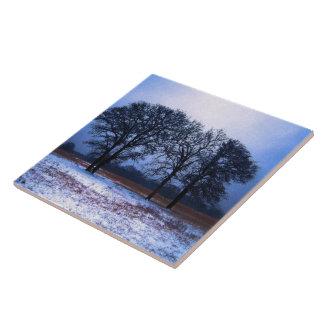 Árboles 1 del invierno teja  ceramica