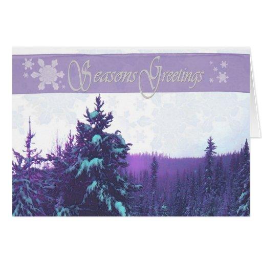 árboles 1 del invierno tarjetas