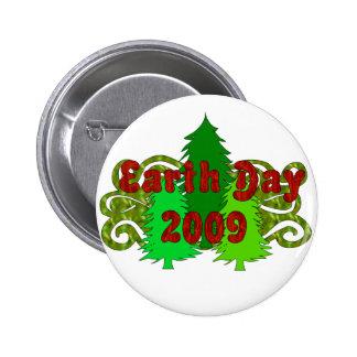 Árboles 2009 del Día de la Tierra Pin Redondo 5 Cm