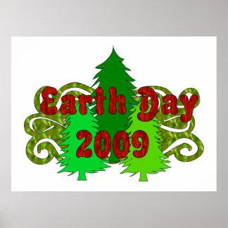 Árboles 2009 del Día de la Tierra Póster