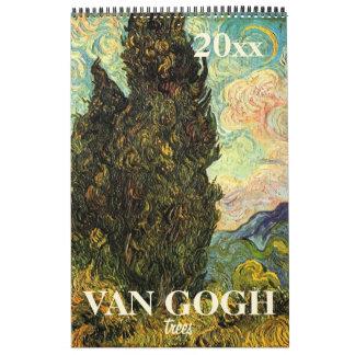 Árboles 2017 y naturaleza de Vincent van Gogh Calendarios