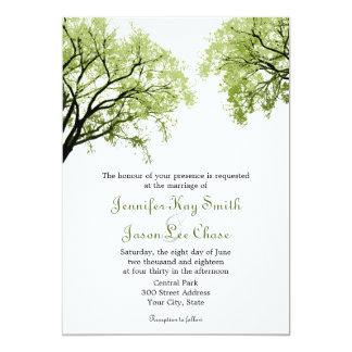 """Árboles 2 de la primavera - invitaciones del boda invitación 5"""" x 7"""""""