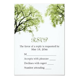 """Árboles 2 de la primavera - tarjeta de RSVP Invitación 3.5"""" X 5"""""""