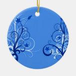 Árboles abstractos 4 adornos de navidad